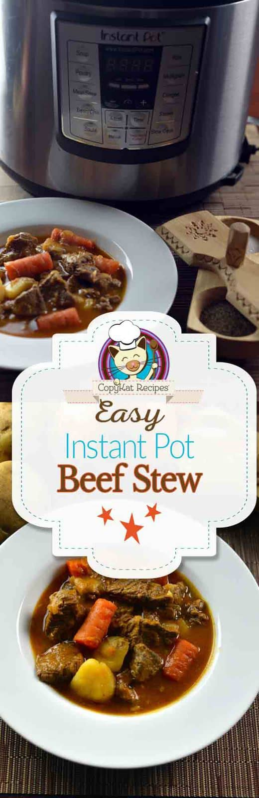 Make delicious beef stew in an Instant Pot with this easy recipe.