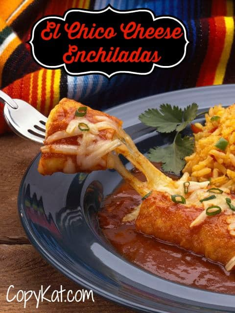 Recreate El Chico Cheese Enchiladas at home with this easy copycat recipe.  #copycat #recipe #mexcian #enchilada #Elchico #Cheese