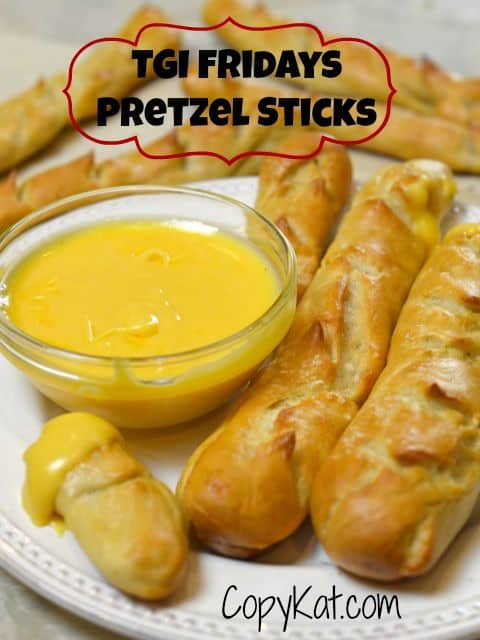 TGI Friday's Pretzel Sticks and Beer Cheese Dip from CopyKat.com