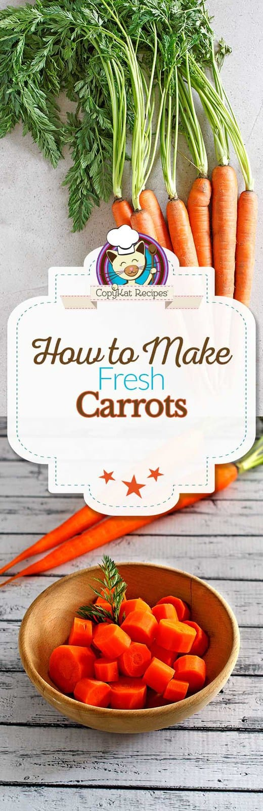Learn how to cook fresh carrots, kick the can, and make fresh carrots.