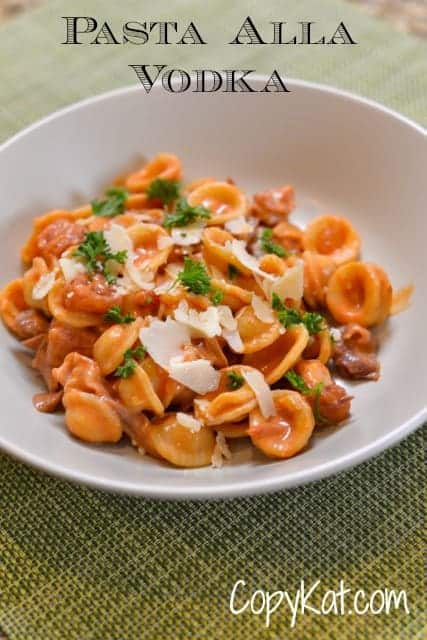 pasta with alla vodka sauce