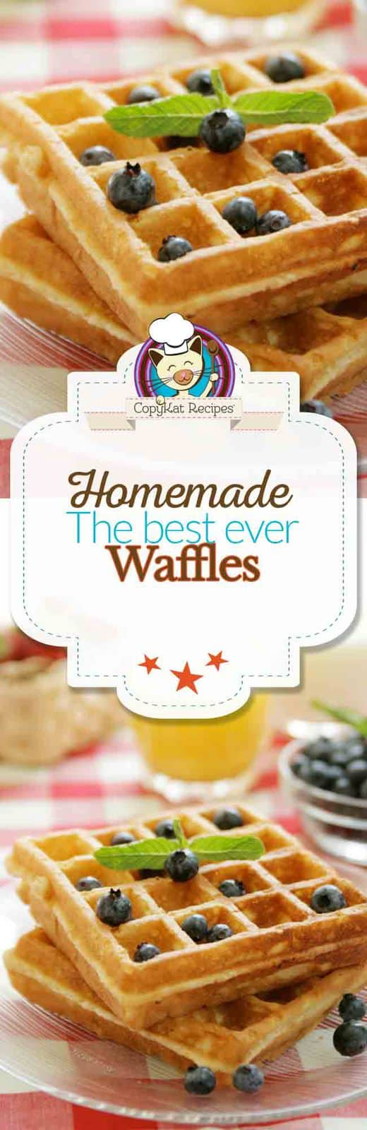 How to make a delicious homemade waffle from scratch.  You will love this recipe.