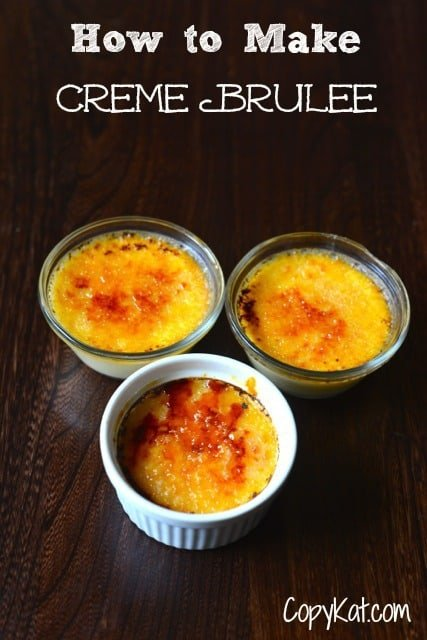 how to make creme brulee