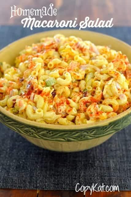 homemade macaroni salad