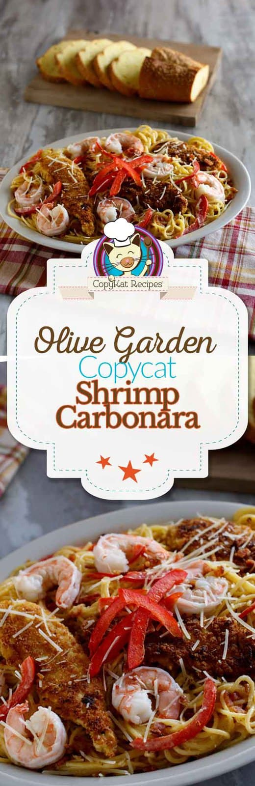 You can recreate this famous Olive Garden Shrimp Carbonara at home with this easy copycat recipe.