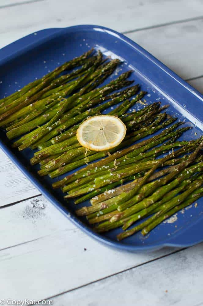 Prepare oven roasted asparagus from CopyKat.com