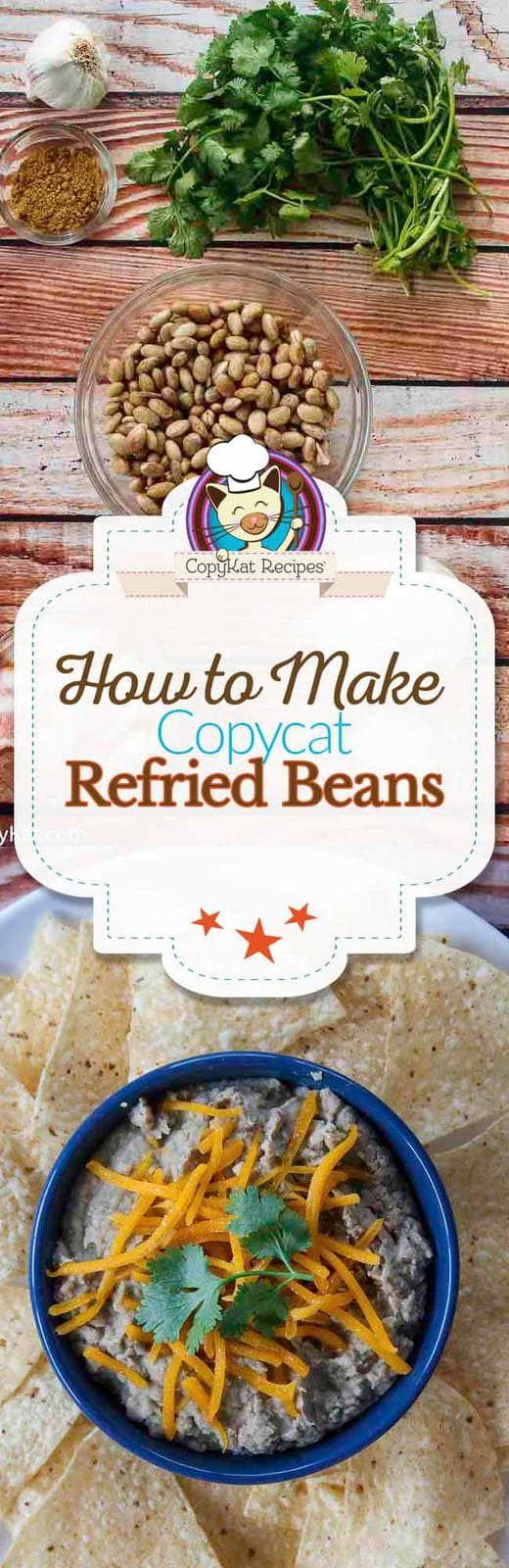 Make refried beans that taste just like a restaurant with this easy side dish recipe.