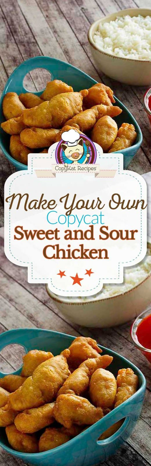 Make your own delicious Sweet and Sour chicken like it is served in a restaurant.