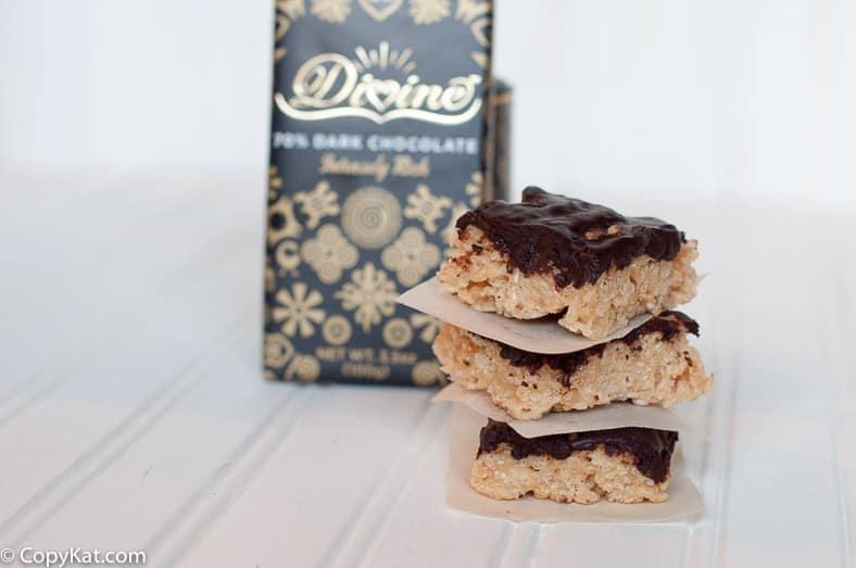 Chocolate Peanut Butter Rice Krispie Treats from CopyKat.com
