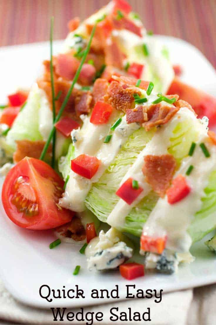 Make this quick and easy wedge salad recipe for dinner. Recipe from CopyKat.com