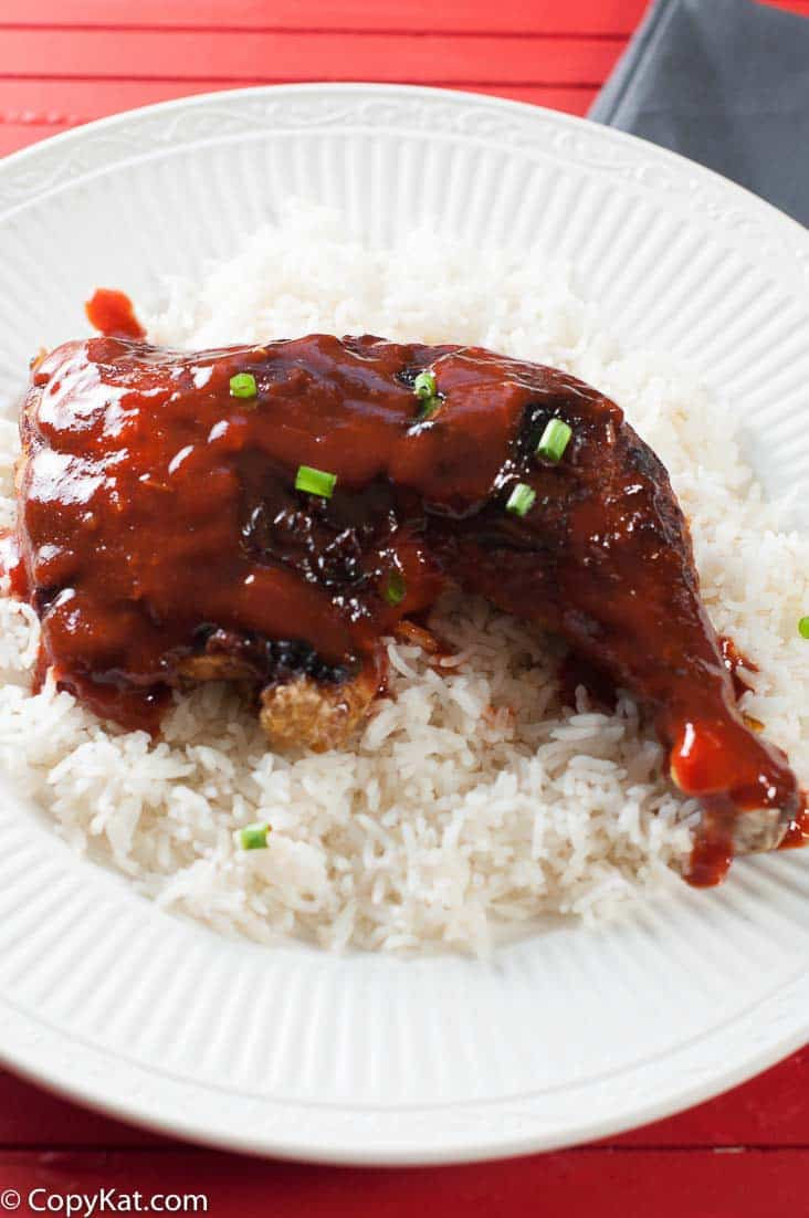 Sriracha Honey Glazed Leg Quarters are a terrific inexpensive way to prepare chicken.  Sweet and spice go so well together.