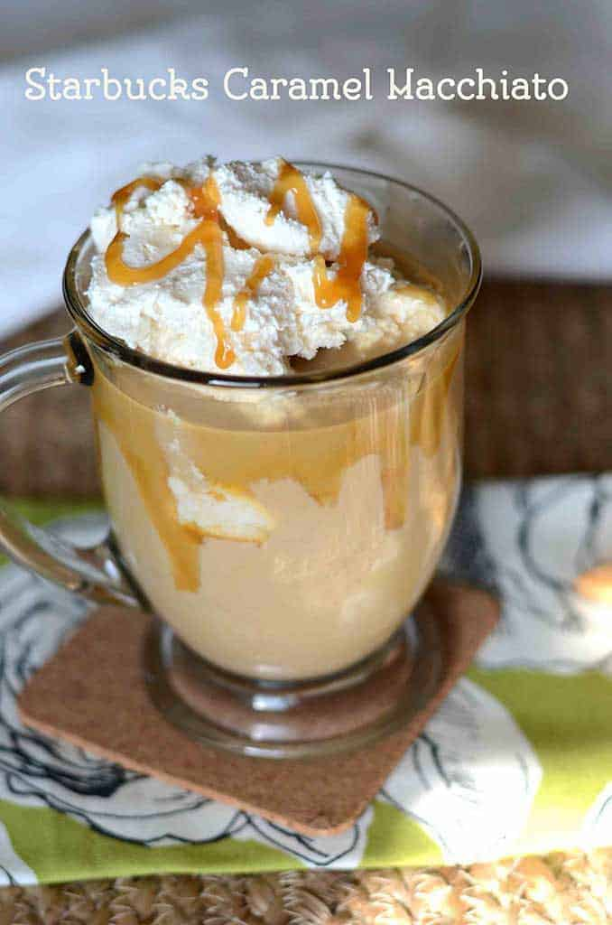 Make your own copycat recipe for Starbucks Caramel Macchiato at home today with this easy recipe.