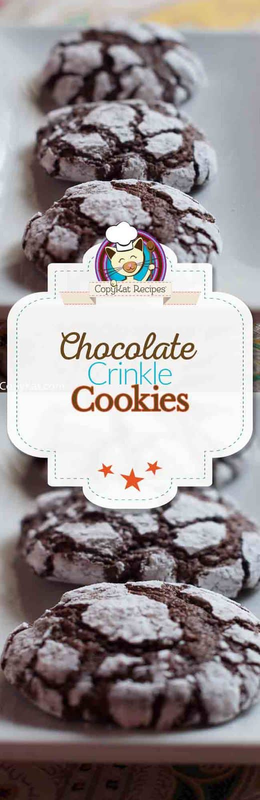 Make these delicious chocolate crinkle cookies.   So easy to make, you will love these.