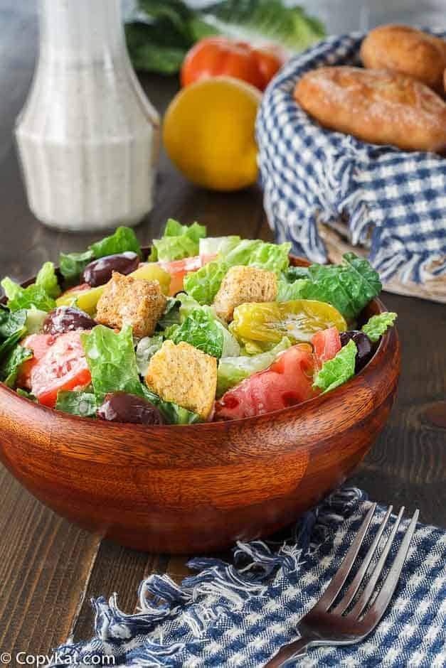 Make your own Olive Garden Salad at home with this easy copycat recipe.