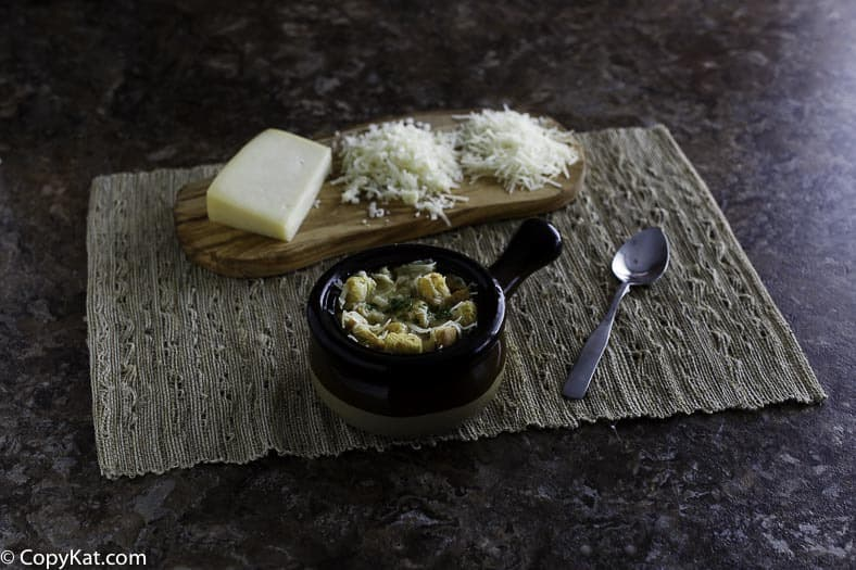 Make you own Panera Bread French Onion soup at home with this copycat recipe.
