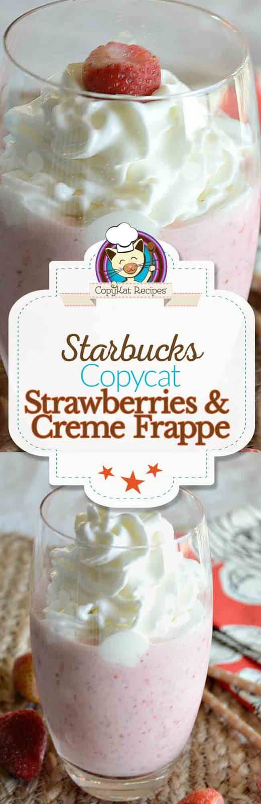 Try this amazing coffee house treat at home.  This copycat recipe for Starbucks Strawberry and Creme will have you amazed.