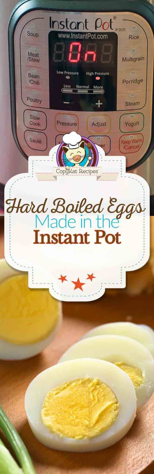 You can make hard boiled eggs in an  Instant Pot in no time. #instantpot #hardboiled #eggs