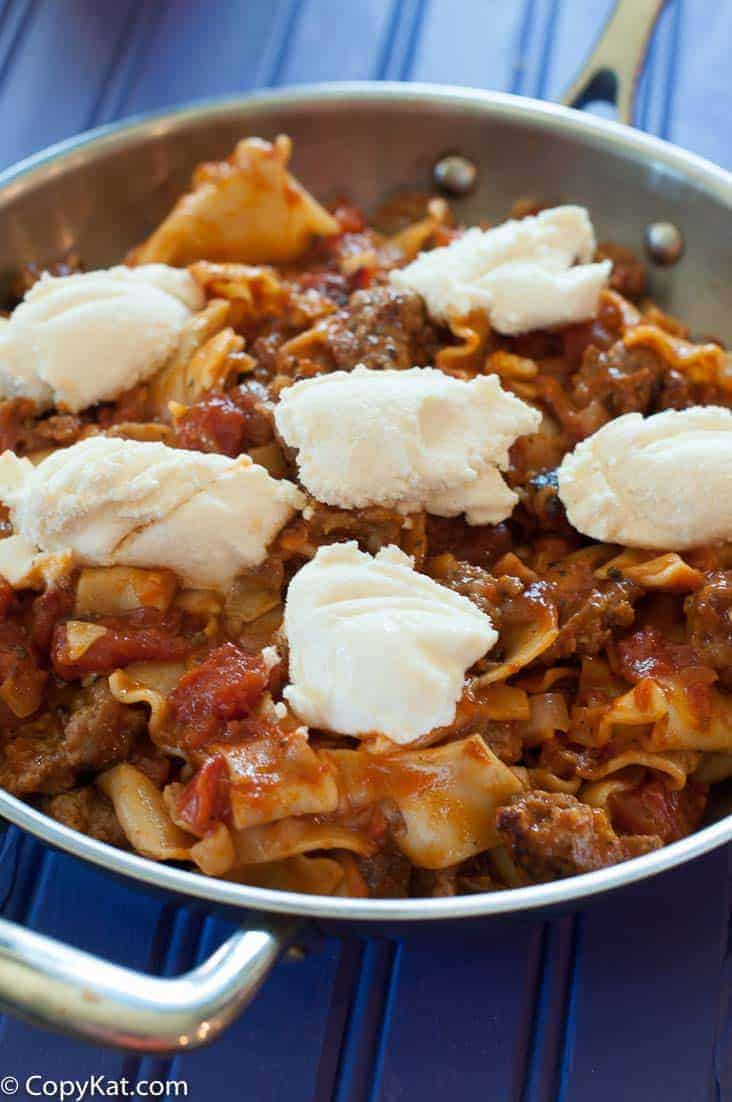 Skillet Lasagna - A better way to make Hamburger Helper.