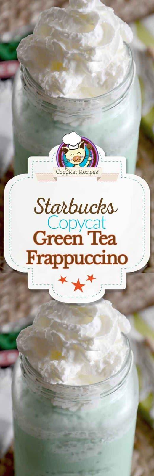 You can make a copycat recipe for the Starbucks Green Tea Frappuccino.