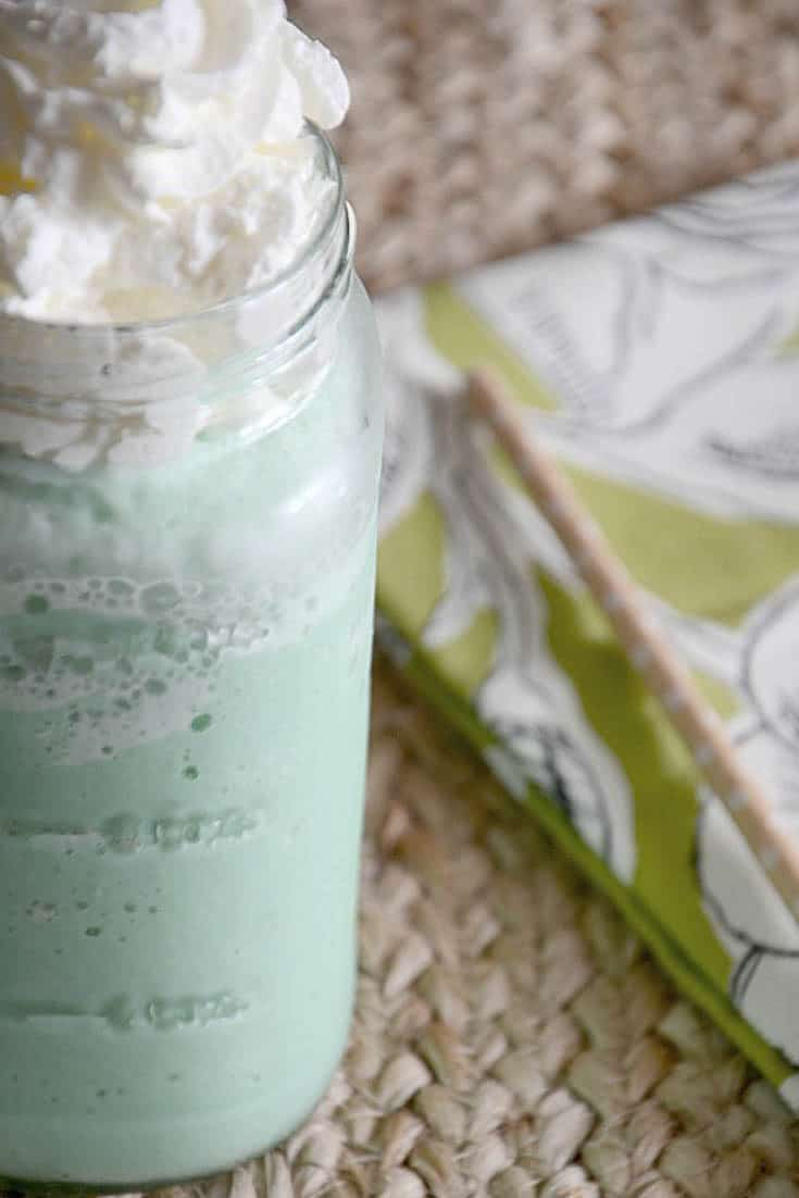 You can make your own homemade Starbucks Green Tea Frappuccino at home with this easy copycat recipe.