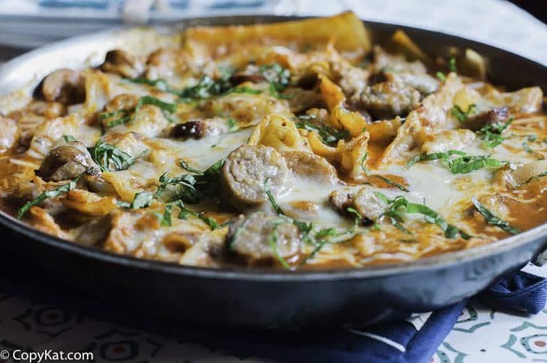 This savory Italian skillet takes no time to make.