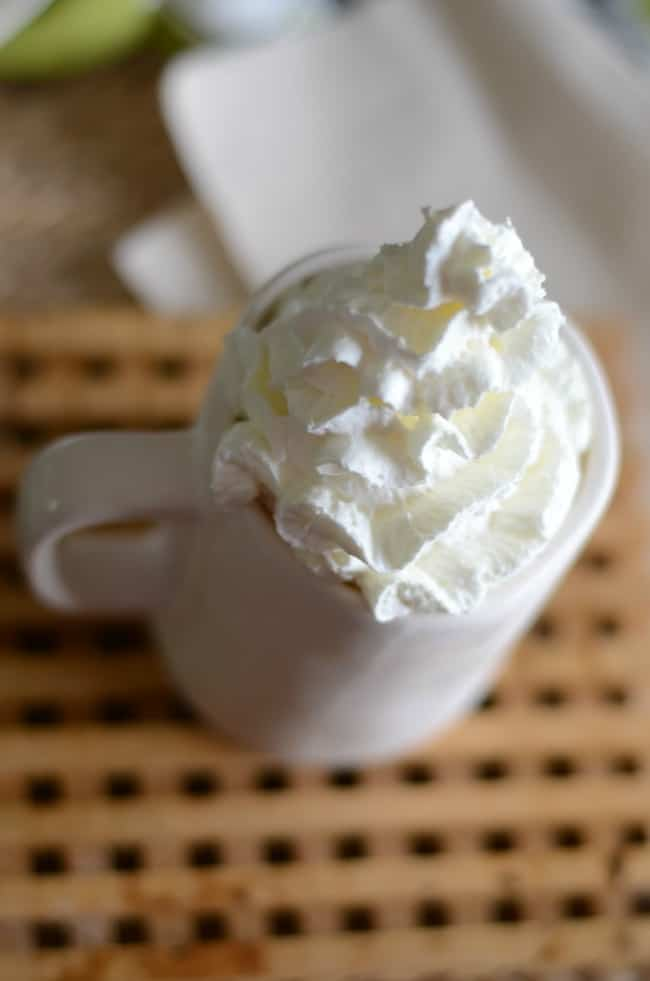 How to make a Starbucks White Chocolate Mocha at  home with this easy copycat recipe.