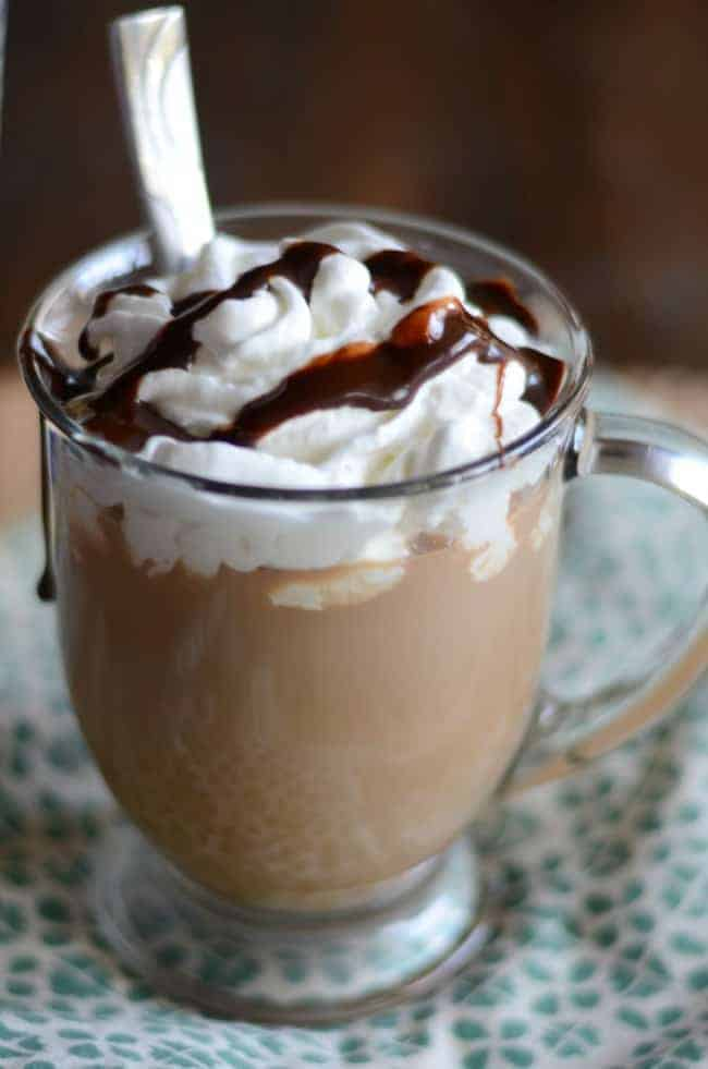 Create your own homemade Starbucks Cafe Mocha at home with this easy copycat recipe.
