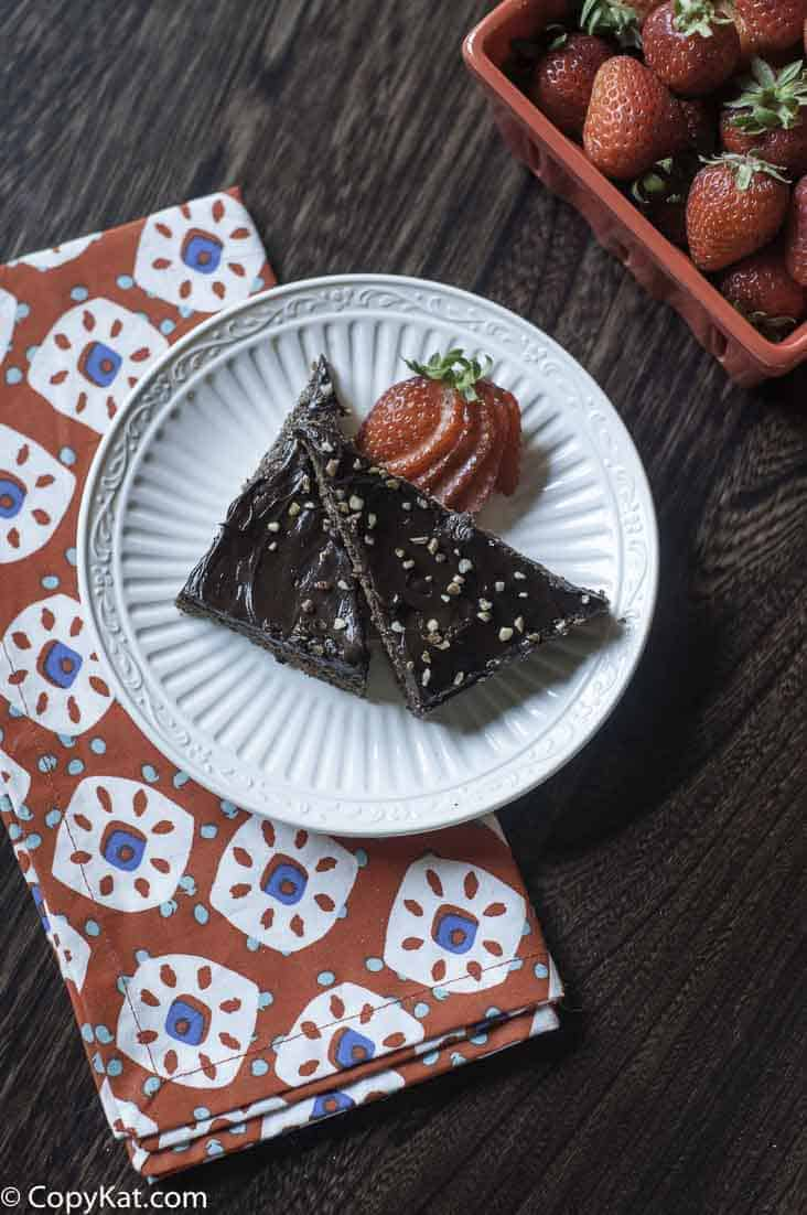 Christmas in your mouth are an orange chocolate bar cookie topped with melted chocolate.