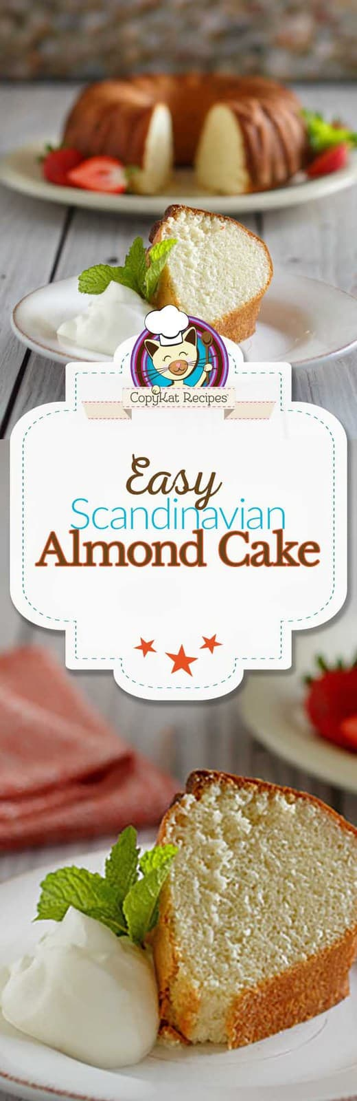 You are going to love this easy to prepare Scandinavian Almond cake.  You can make a delicious cake from scratch. #homemade #cake #almond #recipe #desserts #christmas