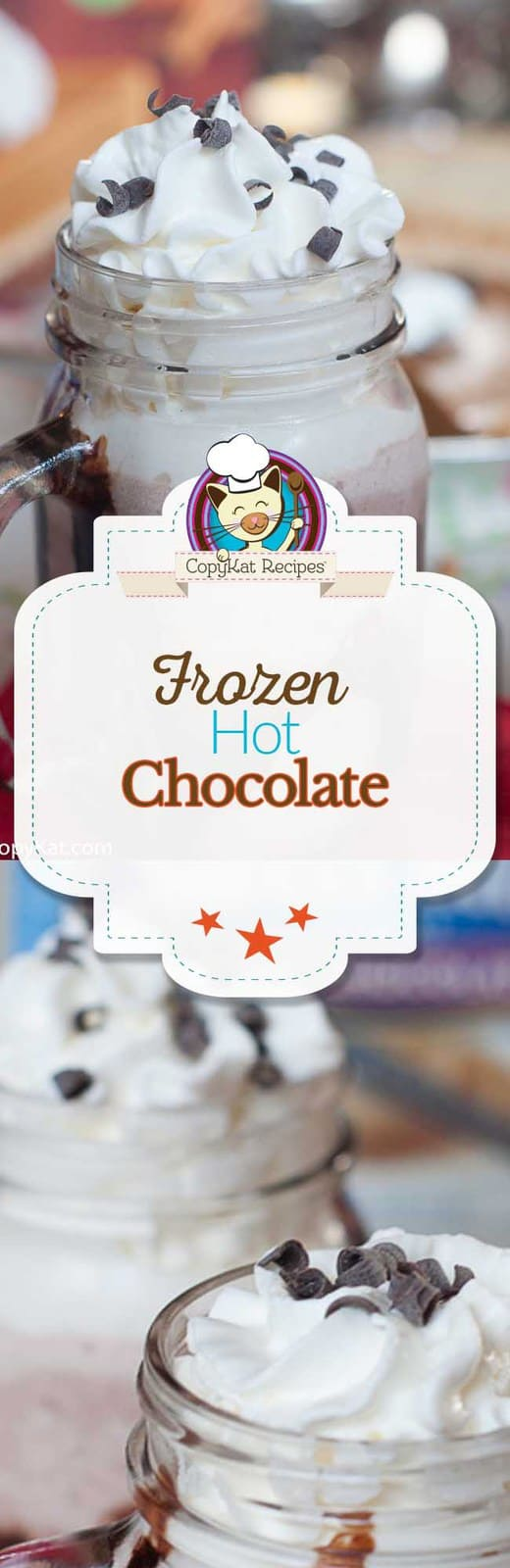 Enjoy Frozen Hot Chocolate!  It's super fun to make, and is a fun way to enjoy a winter classic.