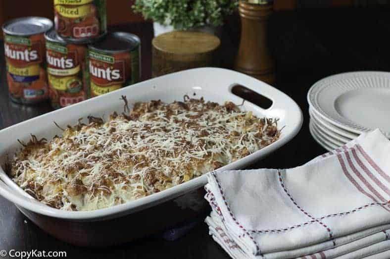 Make a Weeknight Ground Beef Casserole this week for the perfect one dish dinner.
