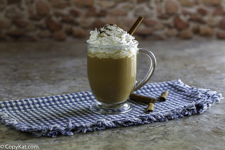Make your own homemade Starbucks Pumpkin Spice Latte with this easy copycat recipe.