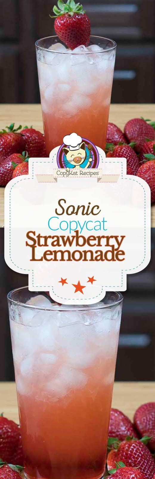 Make your own delicious copycat Strawberry Lemonade.  They are so easy to  make from scratch.