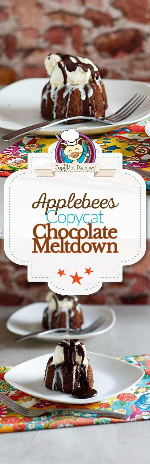 Recreate you own Applebees Chocolate meltdown at home, you will love these triple layers of chocolate.