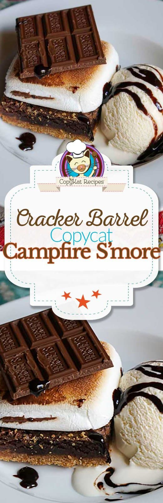 Make your own delicious Cracker Barrel Campfire S'more at home.