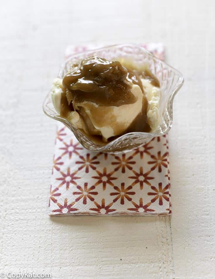 You can make Friendly's Peanut Butter Sauce at home with this easy copycat recipe.  Ice cream has never tasted so good!